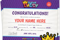 2016 Results Sugar Daddy Race Intended For 5K Race Certificate Templates