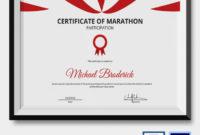 5+ Marathon Certificates Psd & Word Designs | Design Inside Awesome 5K Race Certificate Templates