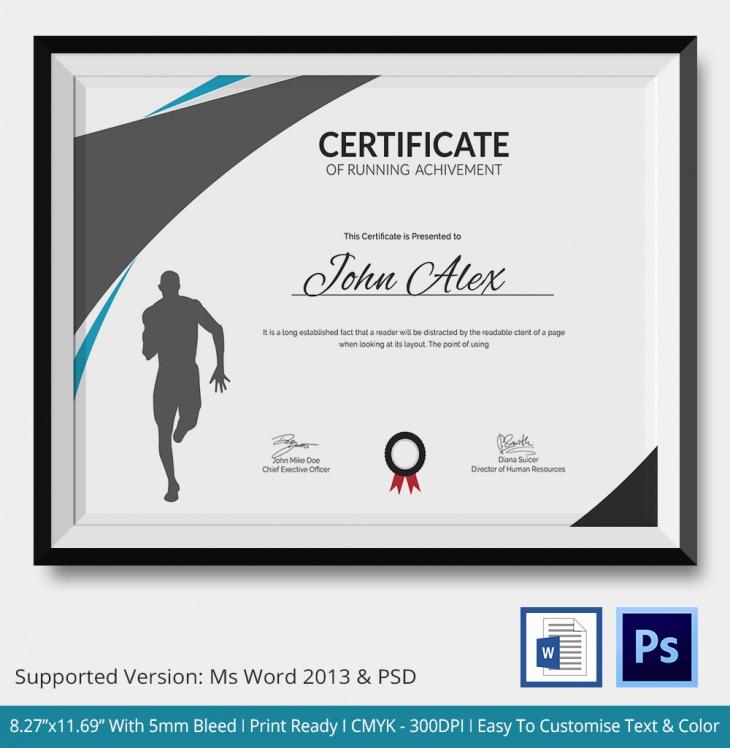 5 Running Certificates Psd & Word Designs | Design Pertaining To 5K Race Certificate Templates