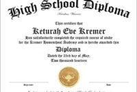 50+ Free High School Diploma Certificates | High School Regarding Fantastic Free School Certificate Templates