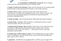 8+ Family Agenda Templates Free Word, Pdf Format Inside Family Meeting Agenda Template