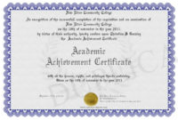 Academic Achievement Certificate Intended For Fascinating Academic Achievement Certificate Templates