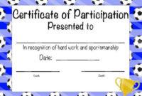 Best Soccer Mvp Certificate Template Amazing Certificate Within Mvp Certificate Template