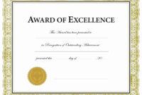 Blank Award Certificate Templates Word Professional Template Regarding Blank Award Certificate Templates Word