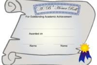 Certificate Of Academic Achievement Template A/B Honor Inside Fascinating Academic Achievement Certificate Templates