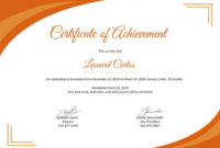 Certificate Of Achievement Template 6+ Free Pdf Intended For Fascinating Academic Achievement Certificate Templates