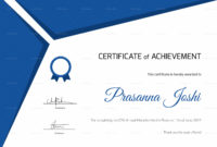Certificate Of Marathon Achievement Design Template In Psd In 5K Race Certificate Templates