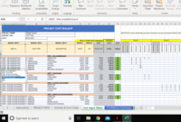 Construction Budget Excel Template / Cost Control Template In Building Cost Spreadsheet Template