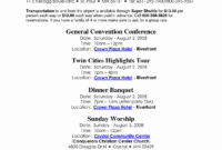 Family Reunion Itinerary Template To Pin On Latter Example With Fresh Family Meeting Agenda Template