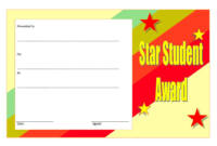 Free 10+ Super Star Student Certificate Templates Throughout Star Student Certificate Template