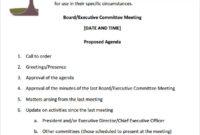 Free 11+ Sample Board Meeting Agenda Templates In Pdf | Ms In Free Committee Meeting Agenda Template