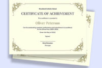 Free Academic Certificate Templates Word (Doc)   Psd For Fascinating Academic Achievement Certificate Templates