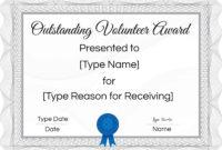 Free Volunteer Certificate Template | Many Designs Are With Regard To Volunteer Certificate Template