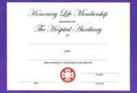 Honorary Membership Certificate Template Calep With Regard To New Member Certificate Template