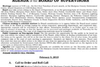Mariposa County Board Of Supervisors Meeting Agenda For Intended For Infection Control Committee Meeting Agenda