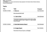 Nonprofit Board Meeting Agenda Template Sample Templates With Amazing Sample Board Meeting Agenda Template