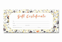 Printable Blank Gift Certificate Template Unique Floral Intended For New Birthday Gift Certificate Template Free 7 Ideas