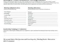 Qnpm Steering Committee Meeting Agenda Template Cards Pertaining To Free Committee Meeting Agenda Template