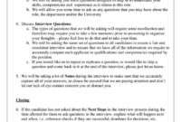 Sample Selection Interview Agenda How To Create A With Interview Agenda Template