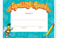 Spelling Bee Award Certificate Template In 2020 For Star Reader Certificate Templates