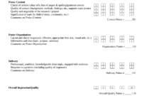 Unlv Poster Presentation Evaluation Form Fill And Sign With Regard To Fascinating Presentation Evaluation Form Templates