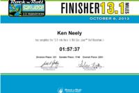 Wanderplace: Race Report: 2013 Rock N Roll San Jose Half Within 5K Race Certificate Templates